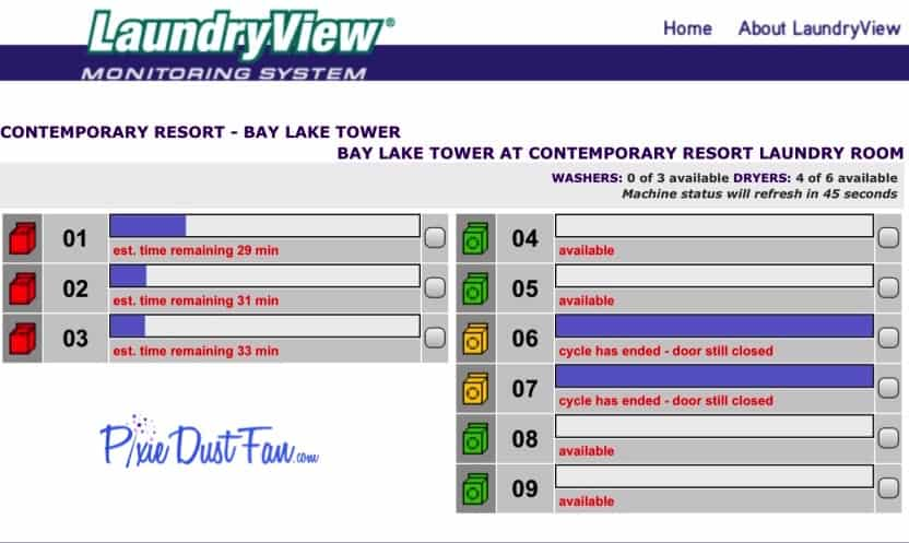 Laundry View Website WDW