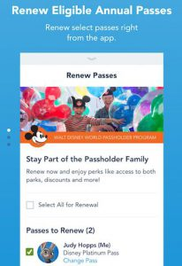 Disney Annual Pass Renewal