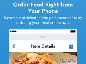 Mobile Food Ordering WDW