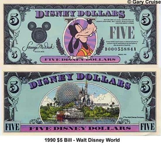 1990 $5 Bill D
