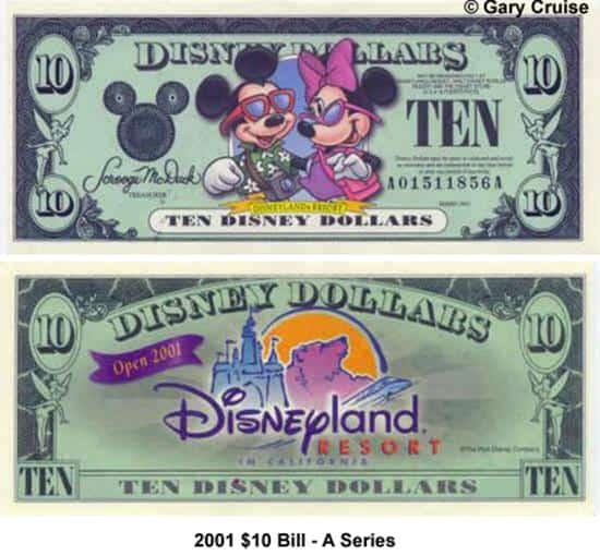 2001 $10 Bill A