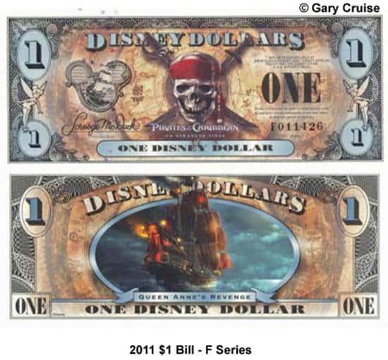 2011 $1 Bill F