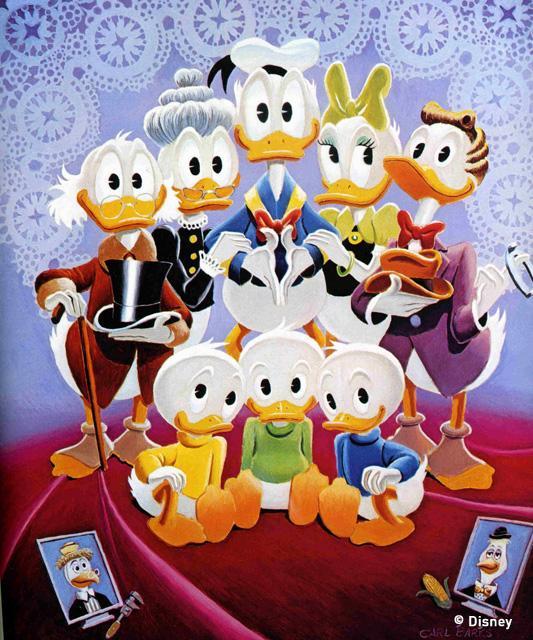 Carl Barks Duck family portrait