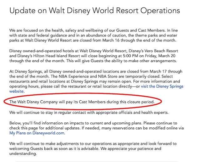 Disney Covid 19 Release