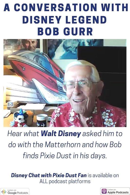 Podcast 59 - Conversation With Disney Legend Bob Gurr