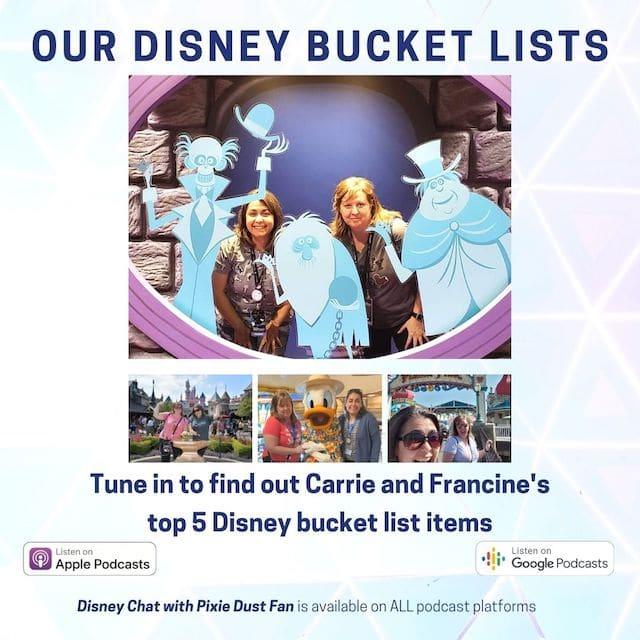 Podcast 61 – Disney Bucket Lists