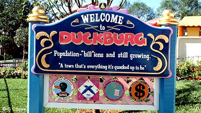 Duckburg Sign