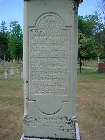 Jane Cooke Grave - Maitland Cemetery
