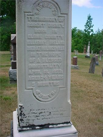 Robert Disney Grave - Maitland Cemetery