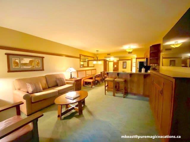 Grand Californian 1 bedroom villa Living Room